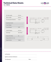 technical data sheet for SPDI brand replacement for Steril-Aire 20000100 uv light bulb