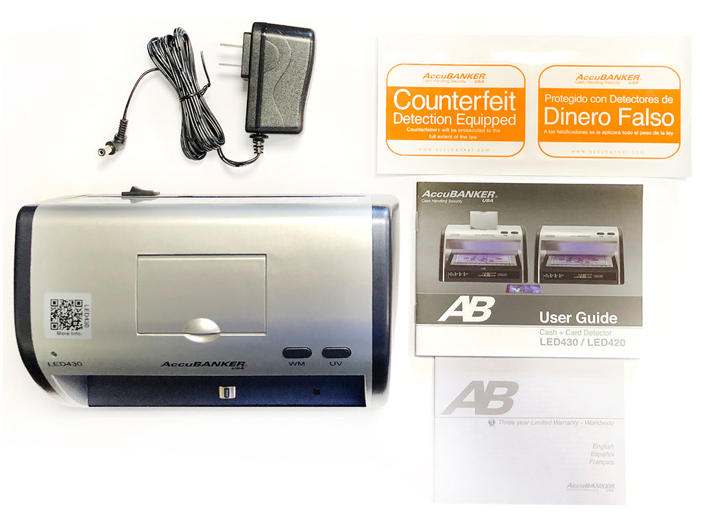 Accubanker LED430 Compact Counterfeit Money Detector with UV/WM
