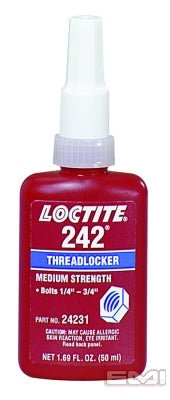 Loctite 24231 242 Threadlocker, Blue, Medium Strength, 50ml
