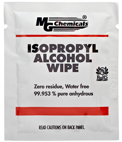 MG Chemicals 99 9% Isopropyl Alcohol Wipes - 6