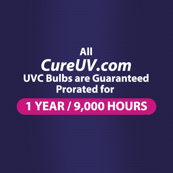 CureUV's 9,000 Hour UVC Warranty!