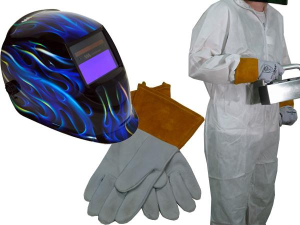 Others - Professional UV Safety Gear Kit - Weldmark Helmet, Gloves And Tyvek Suit