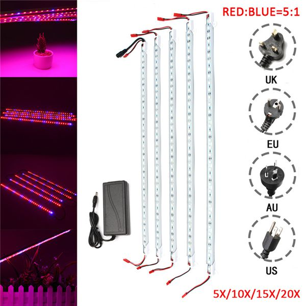 5PCS LED Ultraviolet Grow Light Strip for Plant Photosynthesis & Growth