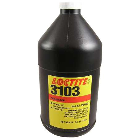 Resin - Loctite 3103 Flexible Light Cure Adhesive - Part # 23692 - 1 Liter Bottle