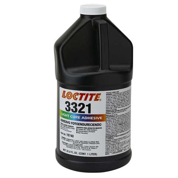 Resin - Loctite 3321 Light Cure Adhesive - Part # 19740 - 1 Liter Bottle