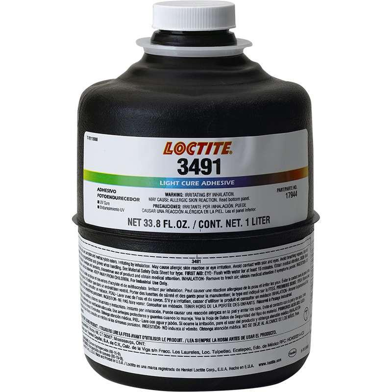 Resin - Loctite 3491 Light Cure Adhesive - Part # 17944 - 1 Liter Bottle