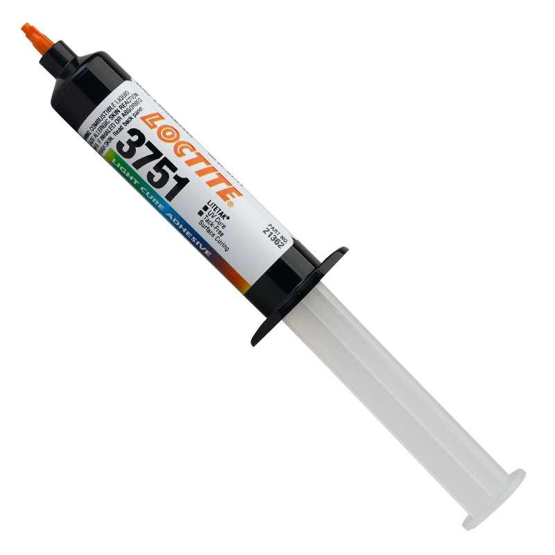 Resin - Loctite 3751 LiteTak Light Cure Adhesive - Part # 21362 -  25mL Syringe