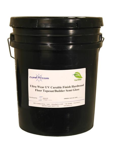 Resin - Ultra Finish - Semi-Gloss Topcoat - UV Cure Hardwood Floor - 5 Gallons