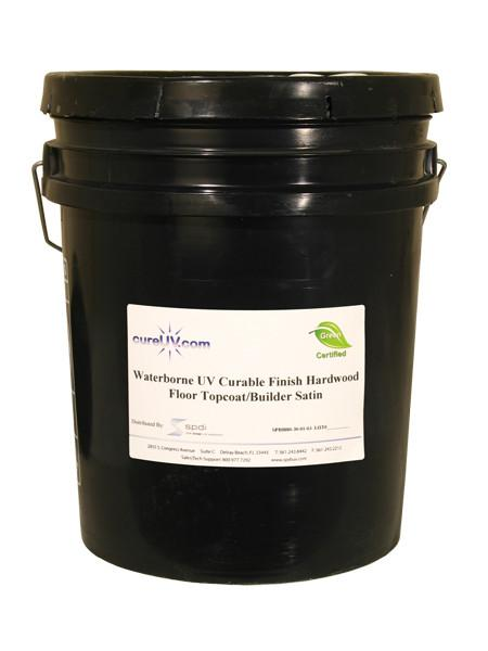 Resin - Waterborne/UV Finish - Satin Topcoat - UV Cure Hardwood Floor - 5 Gallons