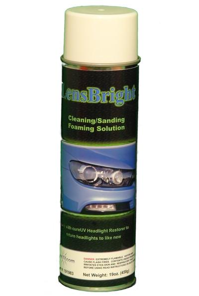 UV Curing - LensBright Headlight Restore Foaming Cleaner - 19oz Aerosol Can