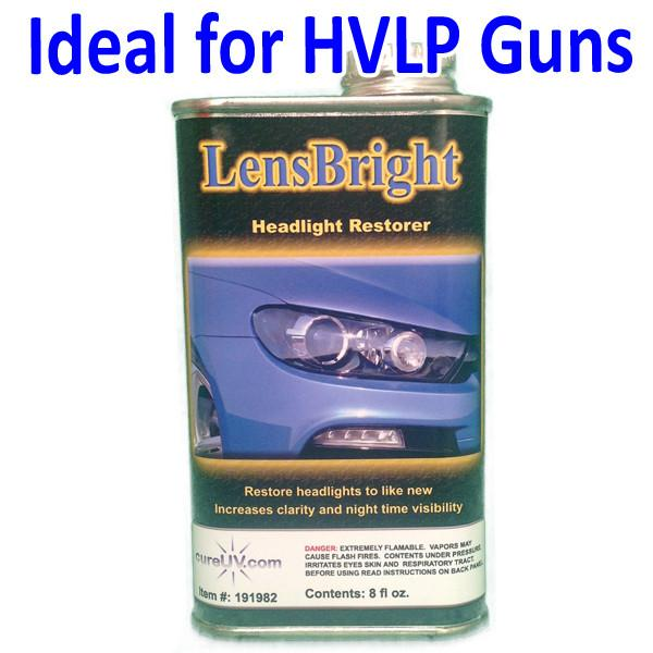UV Curing - LensBright Headlight Restorer - 8oz Can For HVLP Spray Gun