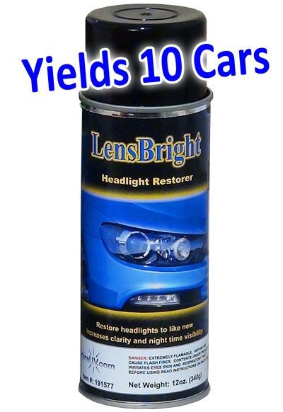 UV Curing - LensBright Headlight Restorer UV Curable Coating - 12oz Aerosol Can