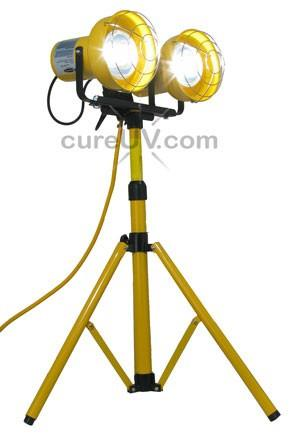 UV Curing - LensBright UV Tripod Fixture With Dual UV-A Lamps