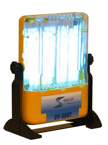 UV Curing - Low Intensity, 4 Bulb UV Cure Light Fixture With 360 Degree Adjustable Standing Base