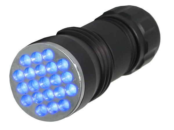 UV Detection - 21-LED Portable UV Inspection Flashlight - 395nm Blacklight