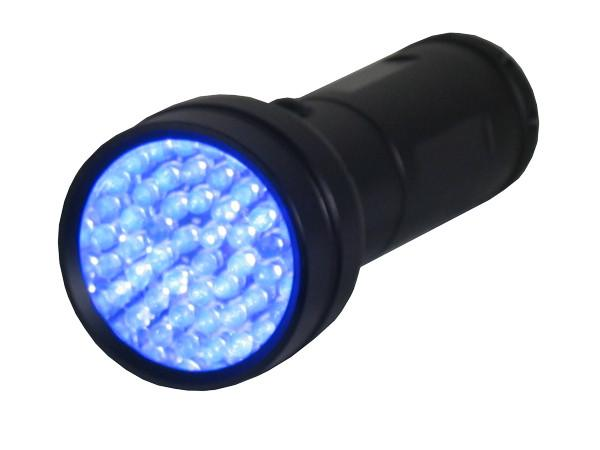 UV Detection - 51-LED Portable UV Inspection Flashlight - 395nm Blacklight