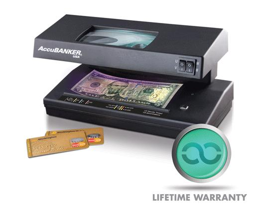 UV Detection - Accubanker D66 Banker Pro Counterfeit Money Detector With UV/MG/WM/MP