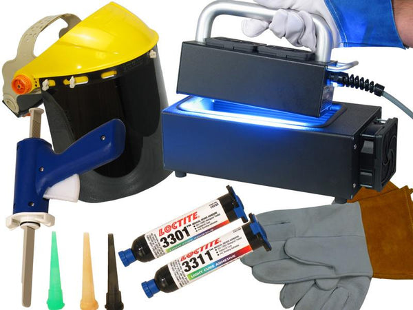 UV Equipment - Acrylics And Plastics Loctite/Total-Cure UV Adhesive Starter Kit
