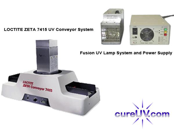 UV Equipment - Loctite ZETA 7415 Electrodeless UV Curing Conveyor And Fusion UV Assembly