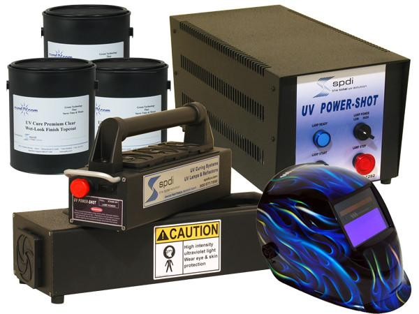 UV Equipment - Power-Shot Benchtop UV Cure System - Guitar Finishing - Starter Kit