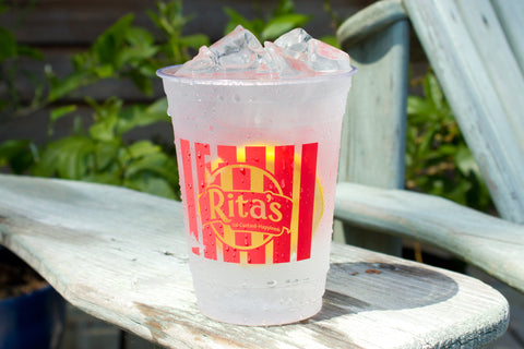 printed clear soft-sided plastic cups
