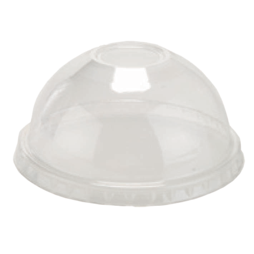 Clear High Dome Lid with hole Fits: item#(s) PRCS12, PRCS9
