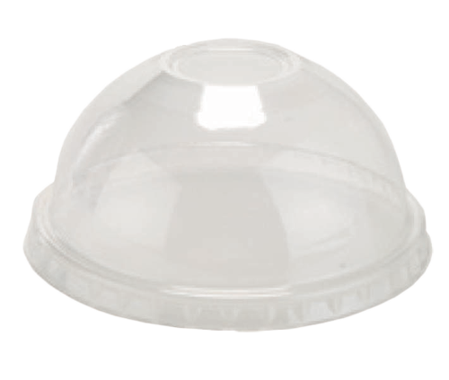 PRDOMECS16 Clear High Dome Lid with hole