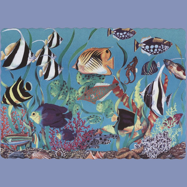 TROPICAL FISH Tray Cover 12x16 J9135TR