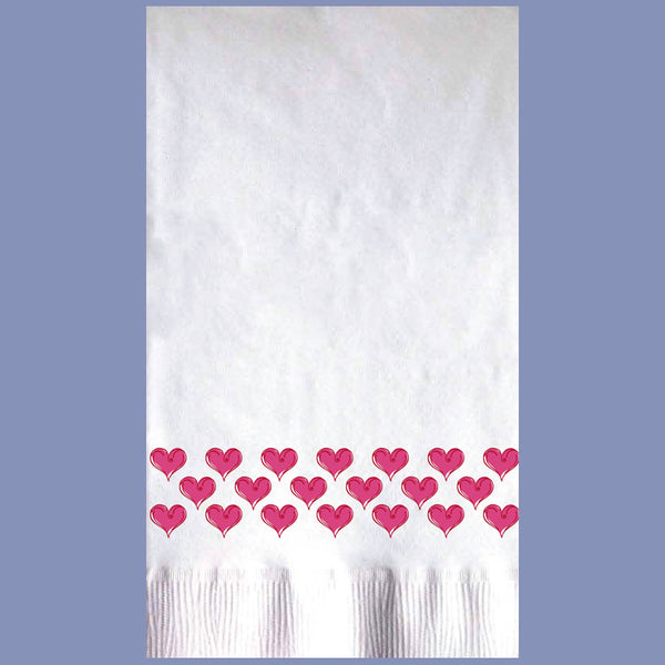 WINTER VALENTINE 2-Ply White Dinner Napkin JD3004VA
