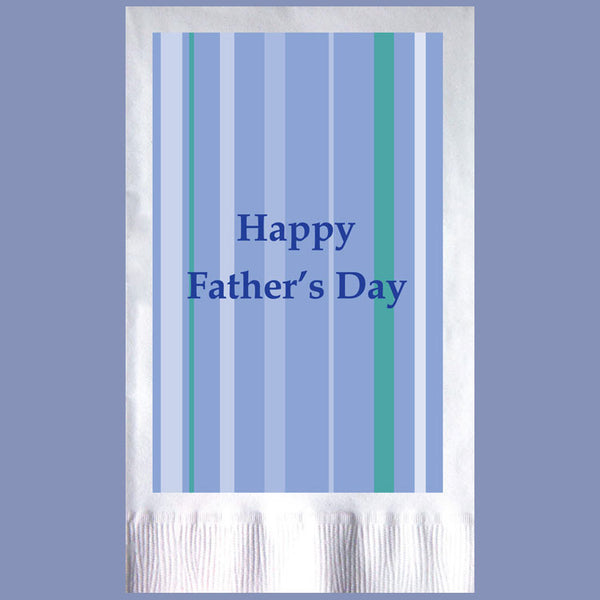 HAPPY FATHER'S DAY 2-Ply White Dinner Napkin JD3005FA