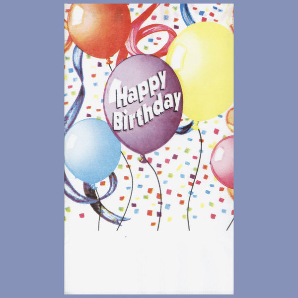 BIRTHDAY BALLOONS 2-Ply White Dinner Napkin JD3016HA