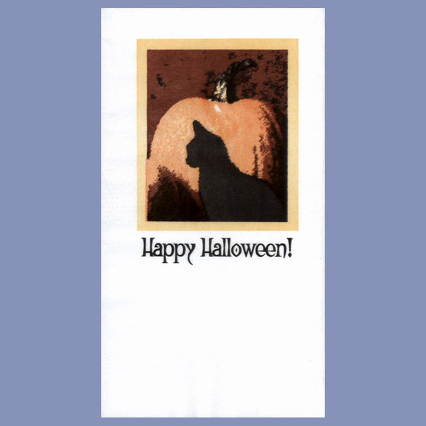 FALL HALLOWEEN CATS 2-Ply White Dinner Napkin JD3038HA