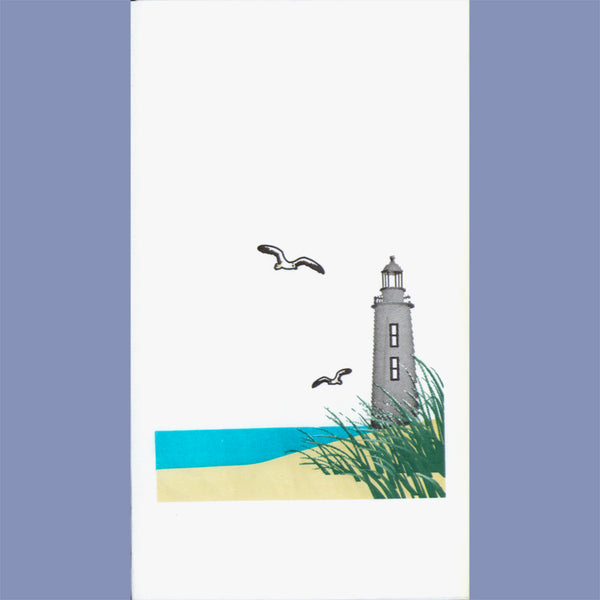 SUMMER BEACH 2-Ply White Dinner Napkin JD3091BE