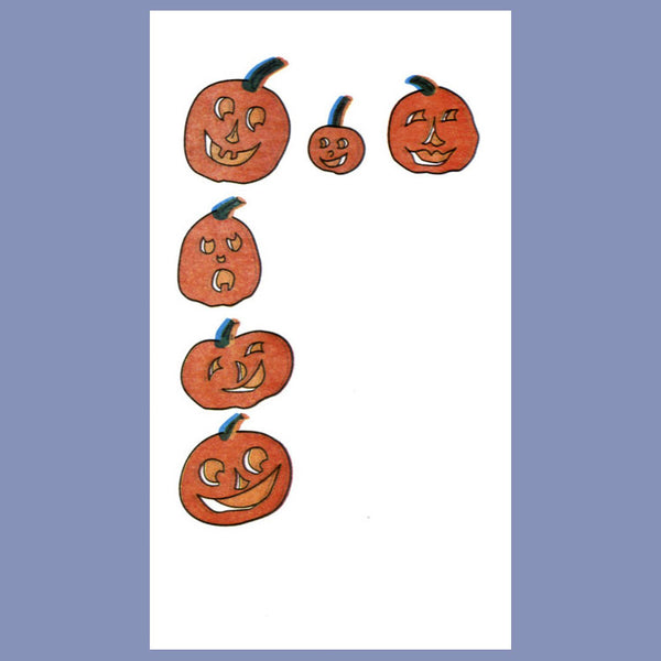 FALL HALLOWEEN PUMPKINS 2-Ply White Dinner Napkin JD3095HA
