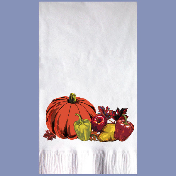 THANKSGIVING NAPKINS 2-Ply White Dinner Napkin JD3107TH