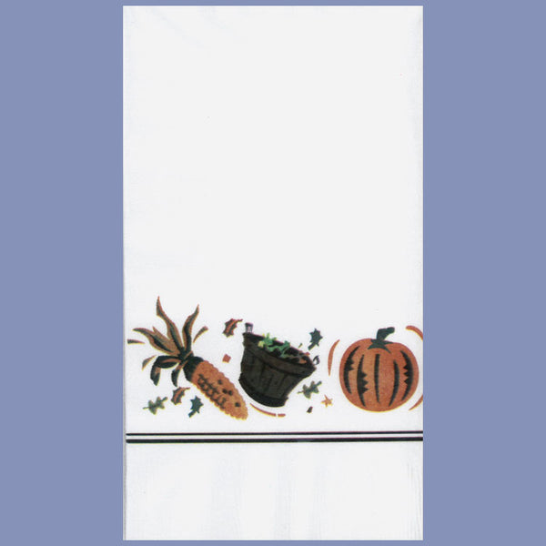FALL AUTUMN HARVEST 2-Ply White Dinner Napkin JD3110AU