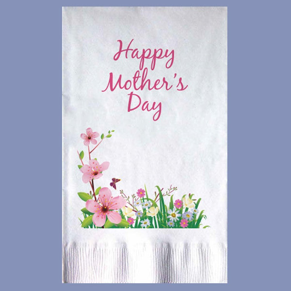 MOTHERS'S DAY BLOSSOMS 2-Ply White Dinner Napkin JD3115MO