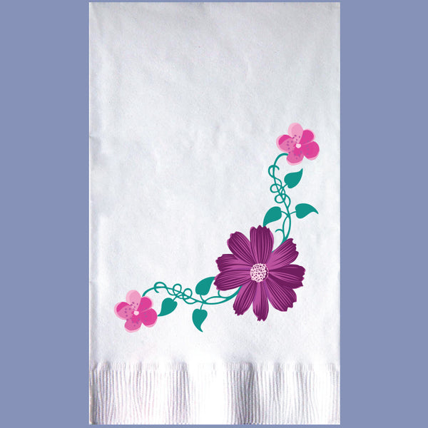 EVERYDAY FLORAL 2-Ply White Dinner Napkin JD3548FL