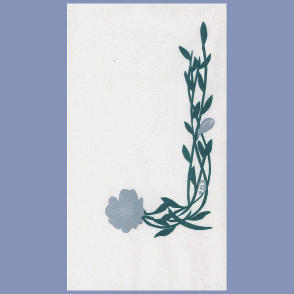 EVERYDAY FLORAL BLUE 2-Ply White Dinner Napkin JD3576FL
