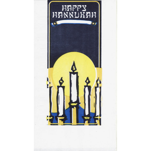 WINTER HANNUKAH 2-Ply White Dinner Napkin JD3651HA