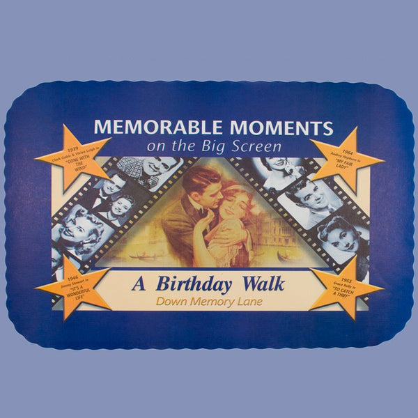 BIRTHDAY MOVIE STAR Tray Cover 12x16 CLEARANCE JT9028BM