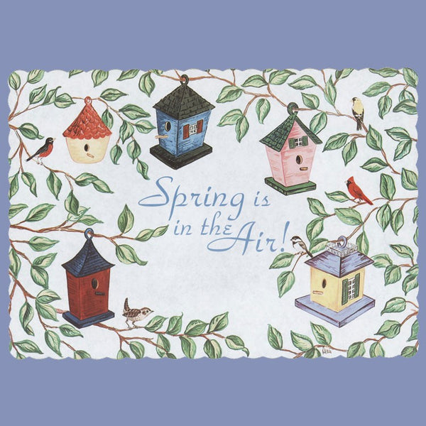 EVERYDAY BIRDHOUSES Tray Cover 12x16 CLEARANCE JT9033BI