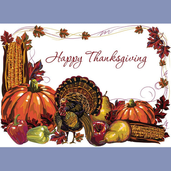 FALL THANKSGIVING TURKEY Tray Cover 14X9 JT9203TH