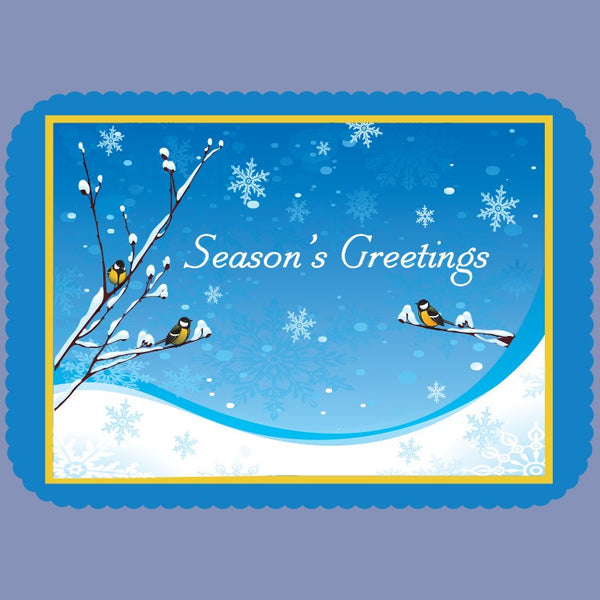 WINTER SEASON GREETING Tray Cover 14X9 100 Count JT9235SE
