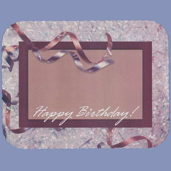 BIRTHDAY RIBBONS Tray Cover 12X16 CLEARANCE JT9259HA