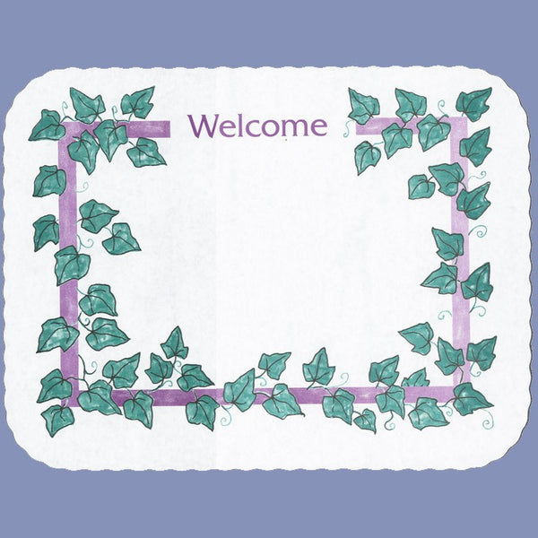 EVERYDAY WELCOME Tray Cover 12X16 CLEARANCE JT9535WE