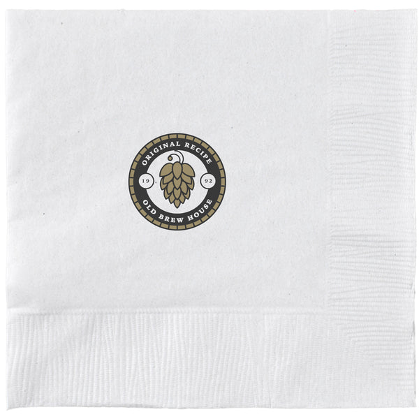 3-Ply White Beverage Napkin PRB3