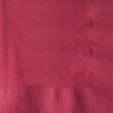 2-Ply Colored Beverage Napkin PRB2DT Burgandy