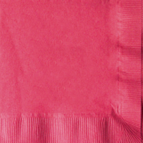 2-Ply Colored Beverage Napkin PRB2DT Raspberry