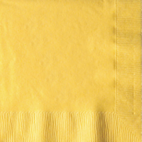 2-Ply Colored Beverage Napkin PRB2DT Sun Gold